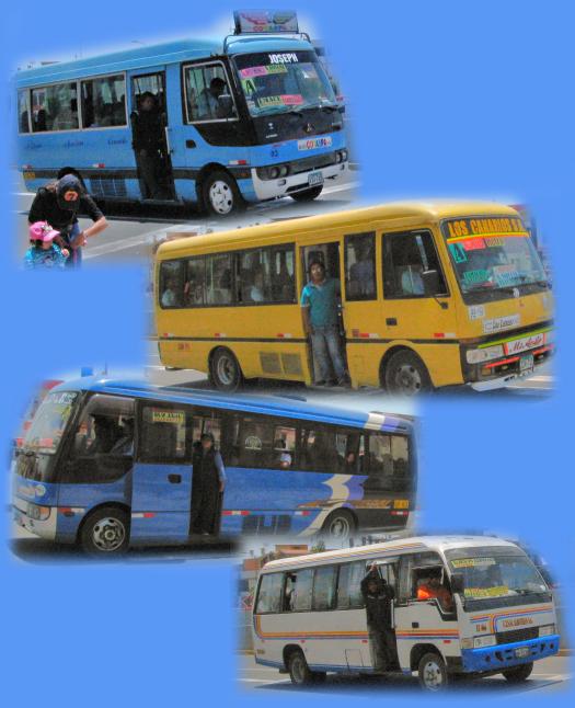 Public buses in Arequipa Peru