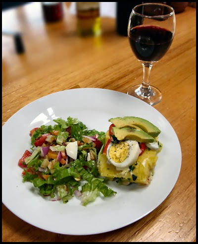 Causa served with salad