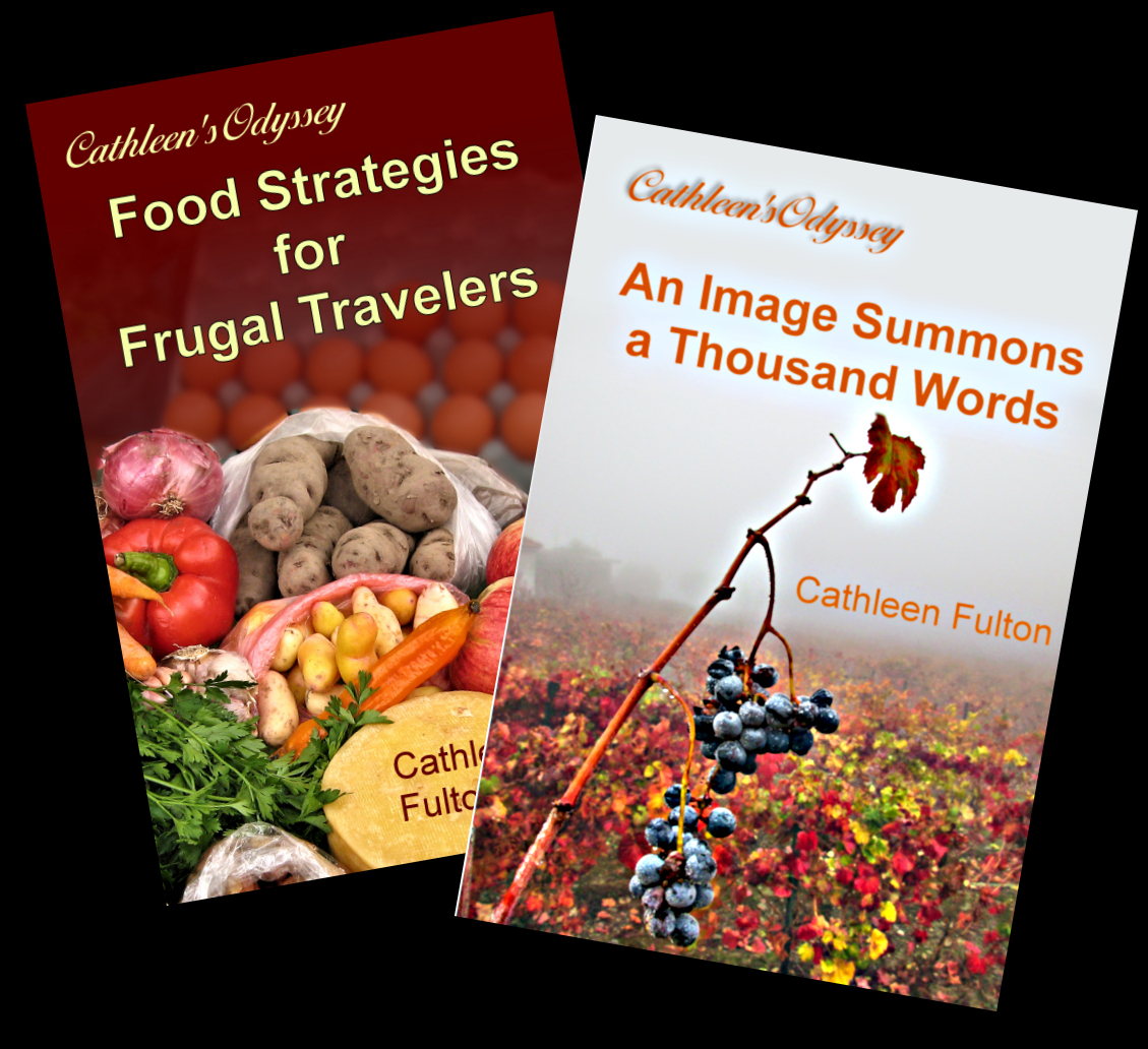 Covers of Food book and Travel Stories book