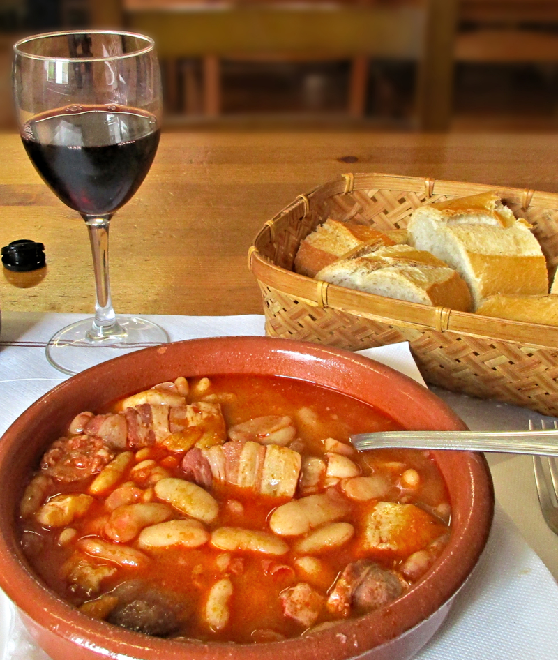 Fabada, Wine and Bread